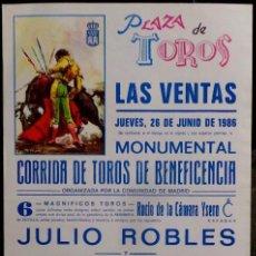 Carteles Toros: CARTEL PLAZA DE TOROS DE LAS VENTAS - 1986. Lote 109100567