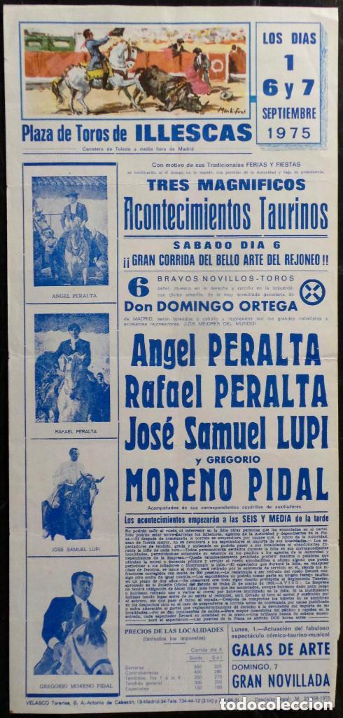 CARTEL PLAZA DE TOROS DE ILLESCAS - 1975 (Coleccionismo - Carteles Gran Formato - Carteles Toros)