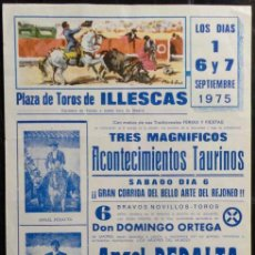 Carteles Toros: CARTEL PLAZA DE TOROS DE ILLESCAS - 1975. Lote 109102055