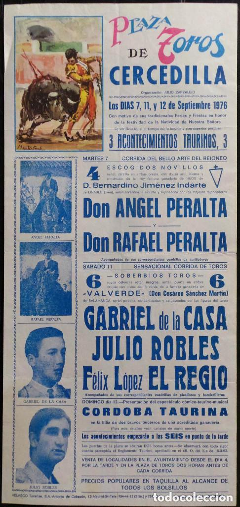 CARTEL PLAZA DE TOROS DE CERCEDILLA - 1976 (Coleccionismo - Carteles Gran Formato - Carteles Toros)