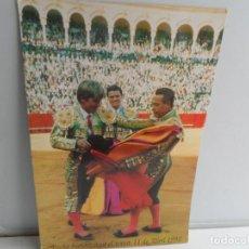 Carteles Toros: CARTEL TOROS FECHA HISTORICA EN EL TOREO 11-04-1993 - CURRO ROMERO - ESPARTACO-EL CORDOBES . Lote 109104843