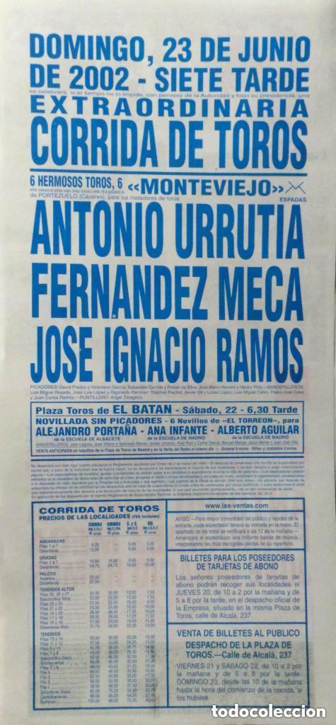 Carteles Toros: CARTEL PLAZA DE TOROS DE MADRID 2002 - Foto 2 - 109110907