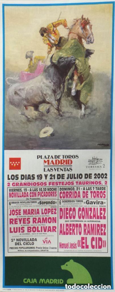 CARTEL PLAZA DE TOROS DE MADRID 2002 (Coleccionismo - Carteles Gran Formato - Carteles Toros)