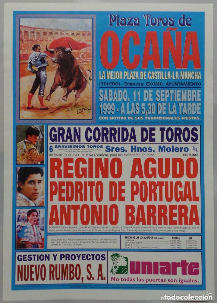 CARTEL TOROS PLAZA DE OCAÑA - 1999 (Coleccionismo - Carteles Gran Formato - Carteles Toros)