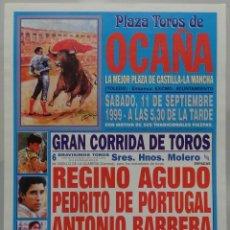 Carteles Toros: CARTEL TOROS PLAZA DE OCAÑA - 1999. Lote 109111663