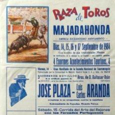 Carteles Toros: CARTEL PLAZA DE TOROS DE MAJARAHONDA , 1984 . Lote 109111735