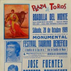 Carteles Toros: CARTEL PLAZA DE BOADILLA DEL MONTE - 1989. Lote 109117783