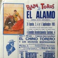 Carteles Toros: CARTEL PLAZA DE TOROS DE EL ALAMO , 1985. Lote 109181167