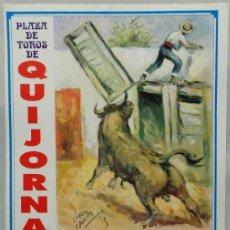 Carteles Toros: CARTEL PLAZA DE TOROS, QUIJORNA, 1995 - EL FUNDI, JOSE LUIS BOTE, EL JAVI, CANALES RIVERA. Lote 109205367