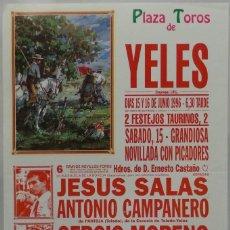 Carteles Toros: CARTEL TOROS PLAZA YELES 1996. Lote 109207859