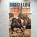 Carteles Toros: TOROS EN CÁDIZ AÑO1955 CON JOSELITO HUERTAS, EL CHAMACO Y JUAN ANTONIO ROMERO. Lote 109260770
