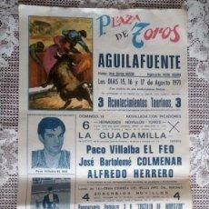 Affiches Tauromachie: CARTEL PLAZA DE TOROS AGUILAFUENTE, AGOSTO 1971. Lote 110139527