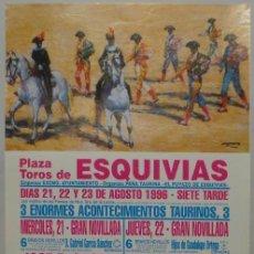 Carteles Toros: CARTEL TOROS PLAZA ESQUIVIAS 1996. Lote 110339403