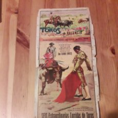 Carteles Toros: PLAZA DE TOROS DE VALENCIA 1948 PEQUEÑO CARTEL ALVARO DOMECQ. Lote 111388003