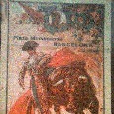Carteles Toros: CARTEL TOROS PLAZA MONUMENTAL AÑO 1932. Lote 111889379