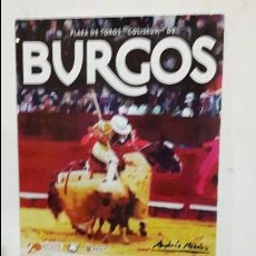 Carteles Toros: CARTEL TOROS BURGOS. Lote 112274995