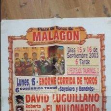 Carteles Toros: CARTEL TOROS MALAGON. Lote 112523827
