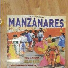Carteles Toros: CARTEL TOROS MANZANARES. Lote 112524091