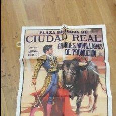 Carteles Toros: CARTEL TOROS CIUDAD REAL. Lote 112524127