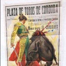 Carteles Toros: CARTEL PLAZA TOROS DE CORDOBA: ALTERNATIVA DE EL CORDOBES, 25 DE MAYO 1963. ILUSTR. J. CROS ESTREMS.. Lote 112946511