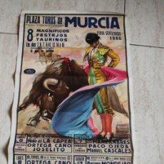 Affissi Tauromachia: CARTEL DE TOROS DE MURCIA. DÍAS 2, 6, 7, 8, 12, 13, 14 Y 16 DE SEPTIEMBRE DE 1986. ESPLÁ, EL SORO. Lote 113895271