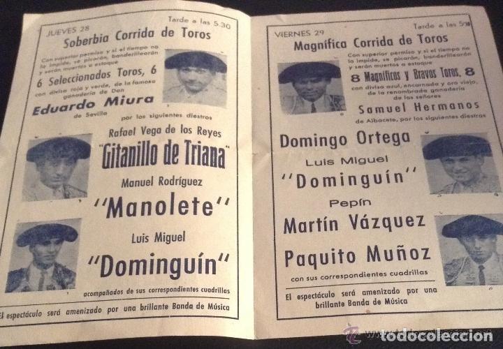 Carteles Toros: PROGRAMA DE MANO DE LA MUERTE DE MANOLETE plaza de toros de LINARES 28 DE AGOSTO DE 1947 - Foto 3 - 114302851