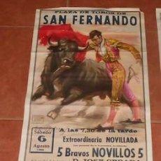 Carteles Toros: CARTEL DE TOROS EN SAN FERNANDO, NOVILLADA, DE 1983. Lote 114689843