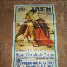 Carteles Toros: CARTEL PLAZA DE TOROS DE JAÉN JUNIO 1981. Lote 115338263