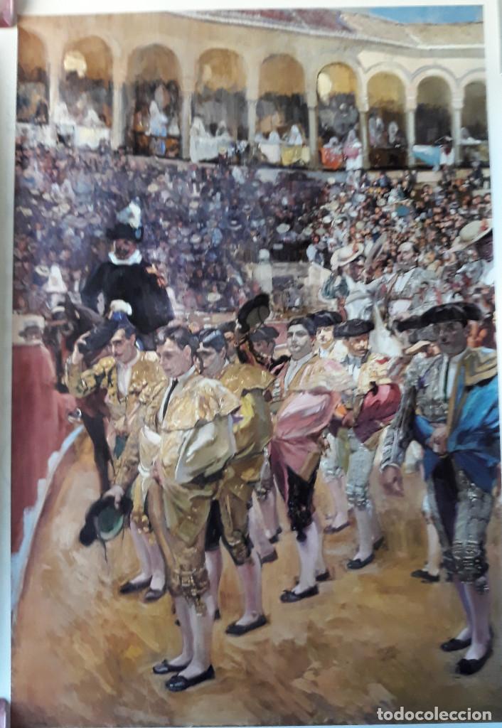 POSTER SOROLLA LOS TOREROS SEVILLA 1915 VISION DE ESPAÑA HISPANIC SOCIETY OF AMERICA 66X46 CM (Coleccionismo - Carteles Gran Formato - Carteles Toros)