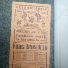 Carteles Toros: REQUENA (VALENCIA) CARTEL DE TOROS DE 1931. Lote 115441107