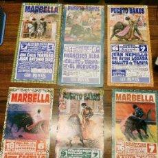 Cartazes Touros: LOTE Nº 12.TAUROMAQUIA. TOROS.TOREROS. CARTELES PEQUEÑO FORMATO CORRIDAS AÑO 1998-1999. Lote 115510035