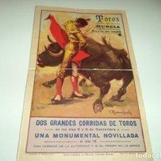 Carteles Toros: CARTEL DE TOROS DE MURCIA,FERIA DE 1935.. Lote 115586703