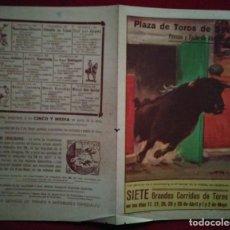 Carteles Toros: 1949 DÍPTICO PLAZA DE TOROS EN SEVILLA 27,2 X 21 PROGRAMA DE MANO. Lote 115626499