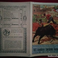 Carteles Toros: 1950 VINAROZ DÍPTICO PLAZA DE TOROS DE VINAROZ 27,2 X 21 PROGRAMA DE MANO. Lote 115626731