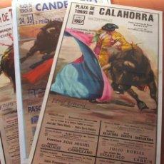 Carteles Toros: CROS ESTREMS. LOTE DE 6 CARTELES DE TOROS.. Lote 116370895