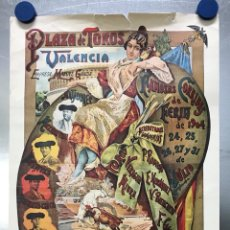 Cartazes Touros: PLAZA DE TOROS DE VALENCIA FAMOSA CORRIDA DE FERIA 1904- CARTEL CONMEMORATIVO REPRODUCIDO EN 1972. Lote 118224963