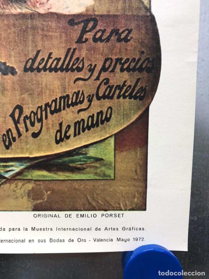 Carteles Toros: PLAZA DE TOROS DE VALENCIA FAMOSA CORRIDA DE FERIA 1904- CARTEL CONMEMORATIVO REPRODUCIDO EN 1972 - Foto 2 - 118224963
