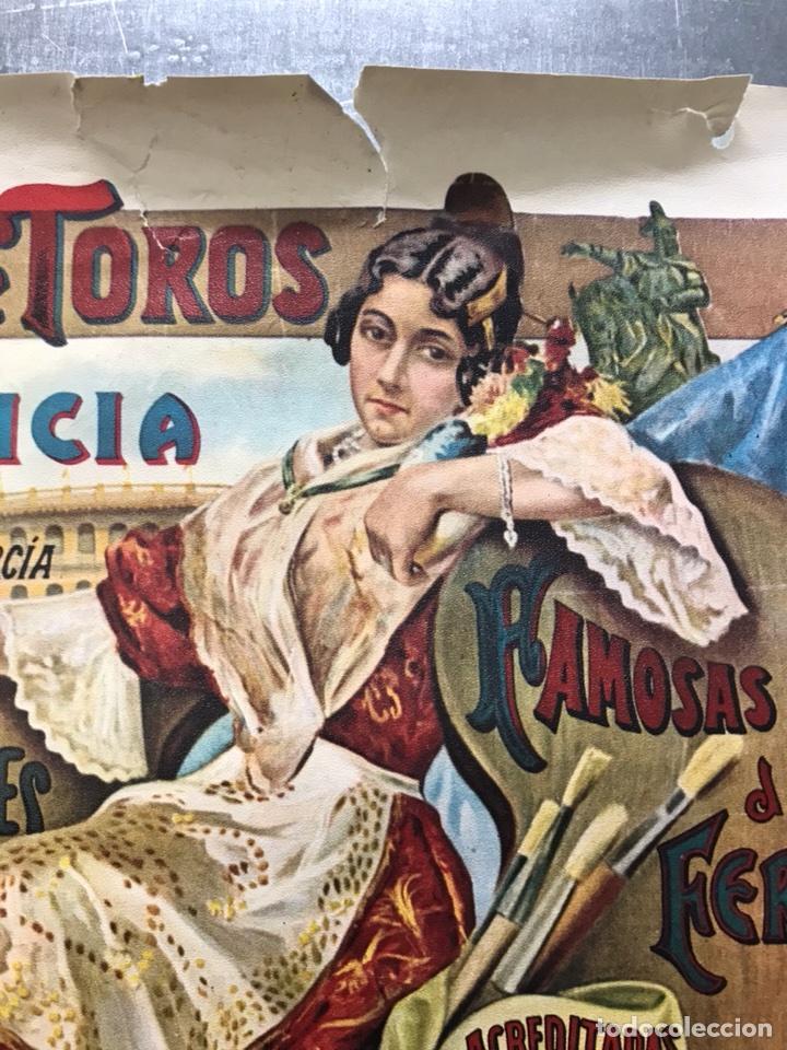 Carteles Toros: PLAZA DE TOROS DE VALENCIA FAMOSA CORRIDA DE FERIA 1904- CARTEL CONMEMORATIVO REPRODUCIDO EN 1972 - Foto 6 - 118224963