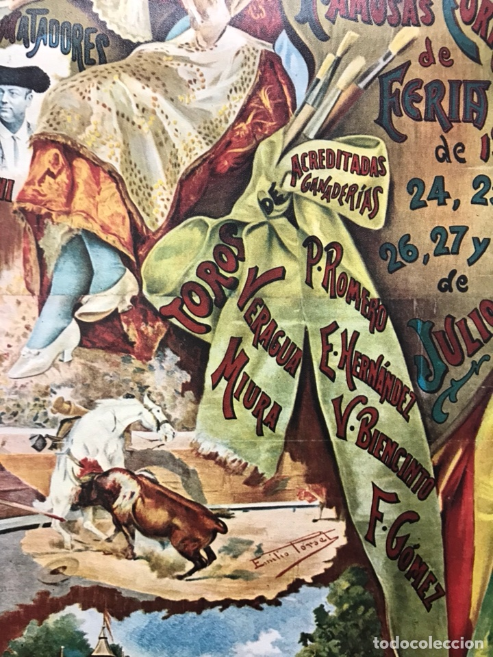 Carteles Toros: PLAZA DE TOROS DE VALENCIA FAMOSA CORRIDA DE FERIA 1904- CARTEL CONMEMORATIVO REPRODUCIDO EN 1972 - Foto 7 - 118224963