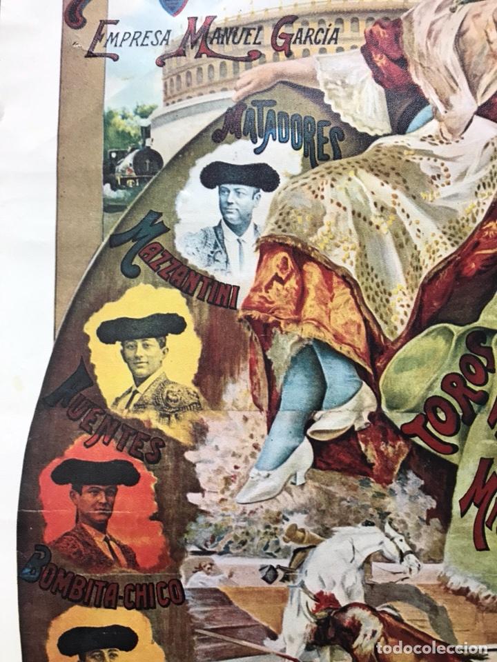 Carteles Toros: PLAZA DE TOROS DE VALENCIA FAMOSA CORRIDA DE FERIA 1904- CARTEL CONMEMORATIVO REPRODUCIDO EN 1972 - Foto 8 - 118224963