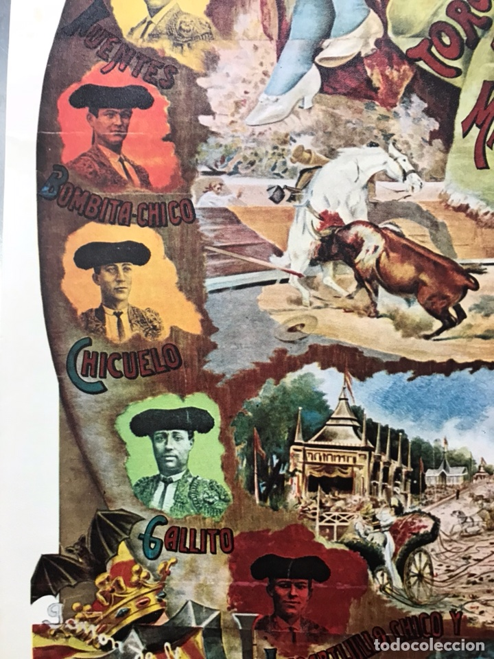 Carteles Toros: PLAZA DE TOROS DE VALENCIA FAMOSA CORRIDA DE FERIA 1904- CARTEL CONMEMORATIVO REPRODUCIDO EN 1972 - Foto 9 - 118224963