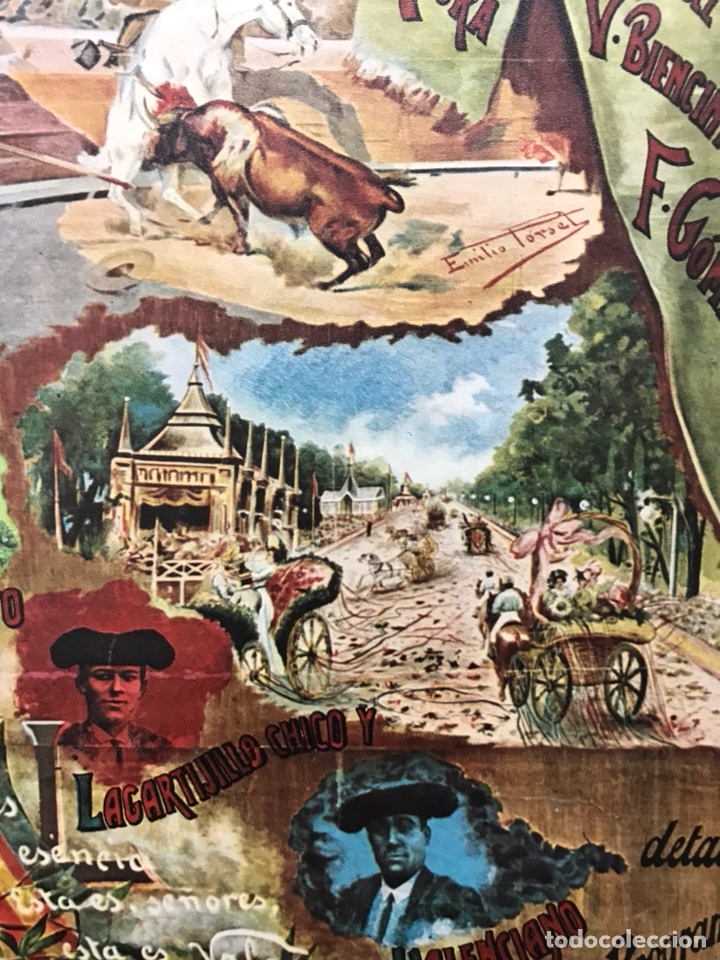 Carteles Toros: PLAZA DE TOROS DE VALENCIA FAMOSA CORRIDA DE FERIA 1904- CARTEL CONMEMORATIVO REPRODUCIDO EN 1972 - Foto 10 - 118224963