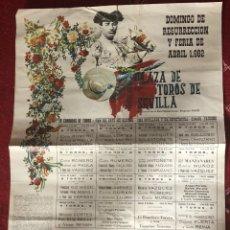 Carteles Toros: CARTEL CORRIDA DE TOROS DOMINGO RESURRECCIÓN Y FERIA ABRIL 1982 SEVILLA.CURRO ROMERO ANTOÑETE. Lote 118721610