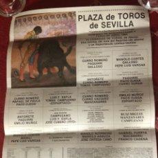 Carteles Toros: CARTEL CORRIDA DE TOROS SEVILLA DOMINGO DE RESURRECCIÓN Y FERIA DE ABRIL 1984.PAQUIRRI CURRO ROMERO. Lote 118721999