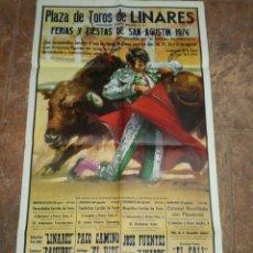 Carteles Toros: CARTEL PLAZA DE TOROS DE LINARES 1974. Lote 119376814