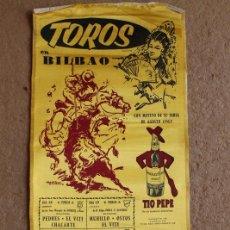 Carteles Toros: CARTEL DE TOROS DE BILBAO. FERIA DE AGOSTO 1963. EL VITI, CHACARTE, MURILLO, PUERTA, CAMINO. Lote 119455399