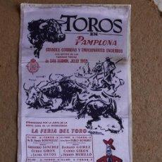 Carteles Toros: CARTEL DE TOROS DE PAMPLONA. SAN FERMÍN. JULIO 1962. PACO CAMINO, EL VITI, ANTONIO ORDÓÑEZ,. Lote 119456667