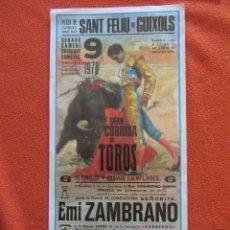 Plakate Stiere - plaza de toros de sant feliu de guixols. 9/9/1978. Emi Zambrano, h.romero. pepe camara - 119578707