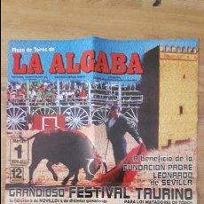 Carteles Toros: CARTEL DE TOROS DE LA ALGABA . Lote 120400491
