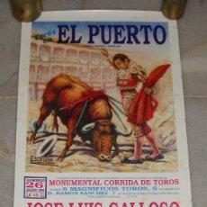 Carteles Toros: CARTEL CORRIDA DE TOROS. EL PUERTO DE SANTA MARIA - CÁDIZ. 1990. Lote 120412919